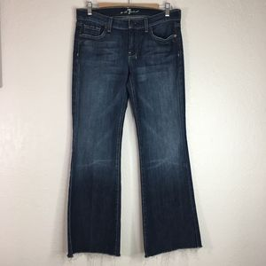 7 For all Mankind 7FAM Dojo jeans raw hem wide leg